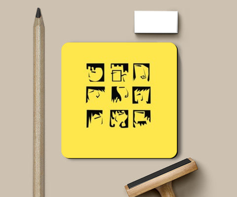 Expression Yellow Coasters | Artist : Anagha Varma