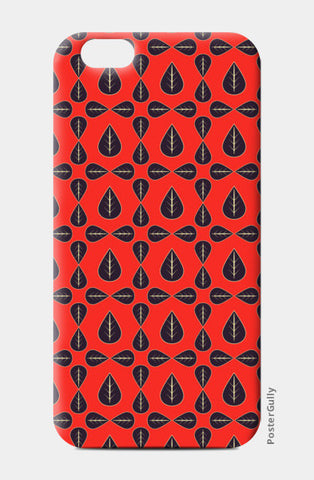 Seamless pattern with leaves on red background iPhone 6/6S Cases | Artist : Designerchennai