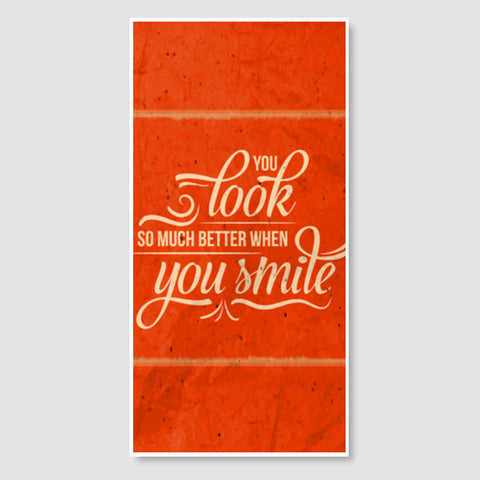 You Look So Much Better When You Smile Door Poster | Artist : Inderpreet Singh