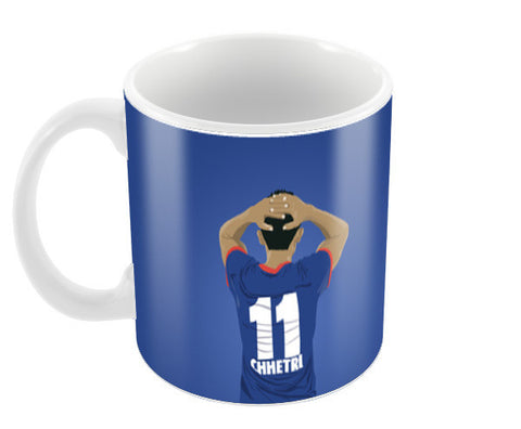 SUNIL CHHETRI, INDIAN FOOTBALLER,STRICKER, ISL Coffee Mugs | Artist : Tripund Media Works