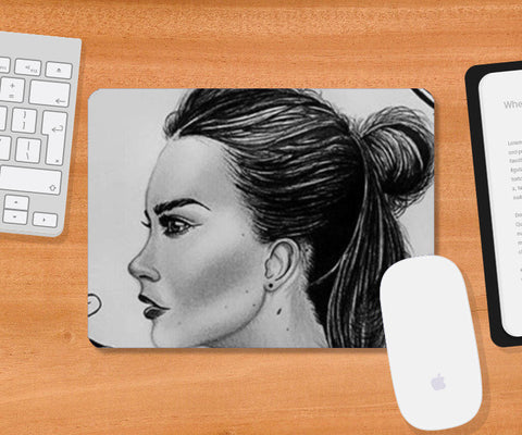 black and white Mousepad | Artist : Arathy Nair