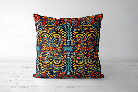 many faced Cushion Covers | Artist : Himani Chhabra
