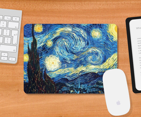 The Starry Night by Vincent Van Gogh  Mousepad | Artist : GABAMBO