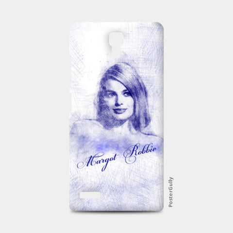 Margot Robbie pen sketch Redmi Note Cases | Artist : Abhishek Faujdar