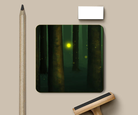 That strange bright light. Coasters | Artist : devika art