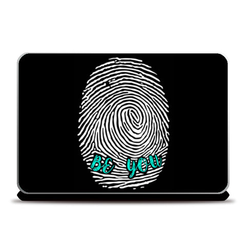 Be Unique Be You Laptop Skins | Artist : safira mumtaz