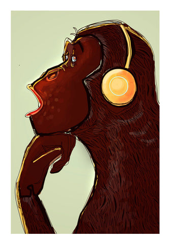 chimp music Wall Art | Artist : abhijeet sinha