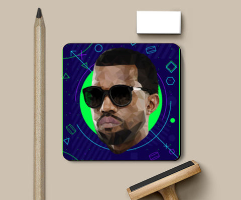 Kanye West Low Poly Coasters | Artist : Mohak Gulati