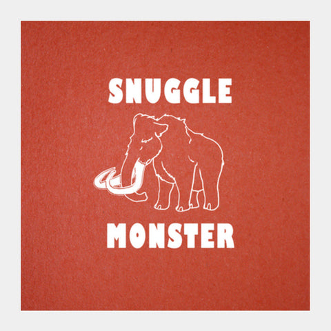 Square Art Prints, Snuggle Monster Square Art Prints | Artist : Dr. Green, - PosterGully
