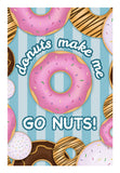 Donuts make me go nuts Wall Art | Artist : marika