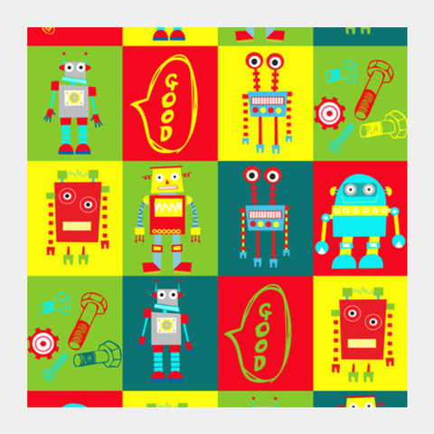 Square Art Prints, ROBO Square Art Prints | Artist : DISHA BHANOT, - PosterGully