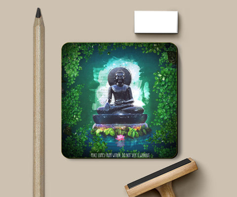 Buddha peace comes from within Coasters | Artist : Cuboidesign