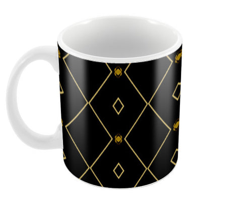 Pattern design in black Coffee Mugs | Artist : Amar Singha