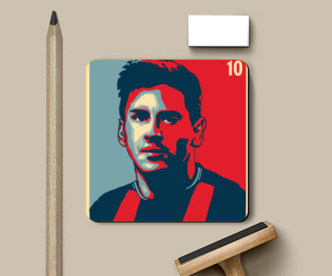PosterGully Coasters, Lionel Messi Coasters | Artist : kapil Verma, - PosterGully
