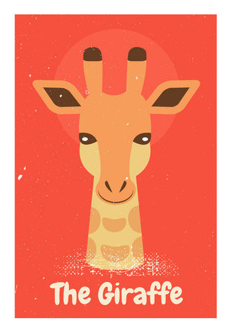 Giraffe With Orange Background  Art PosterGully Specials