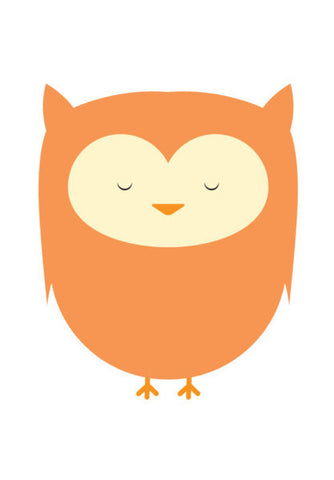 Cute Orange Owl Art PosterGully Specials