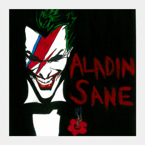 DC world's 'Aladin Sane' Square Art Prints | Artist : Pop Goes The Easel