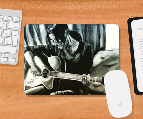 Guitar Love Mousepad | Artist : Draw On Demand