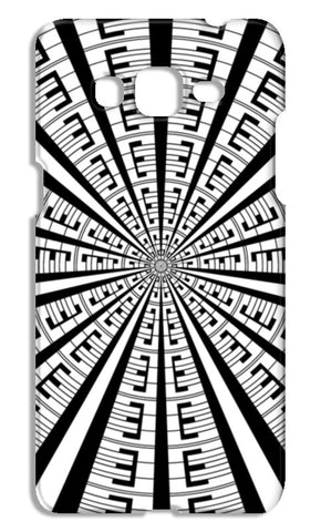 Abstract Modern Art Geometric Black White Pattern Samsung Galaxy Grand Prime Cases | Artist : Seema Hooda