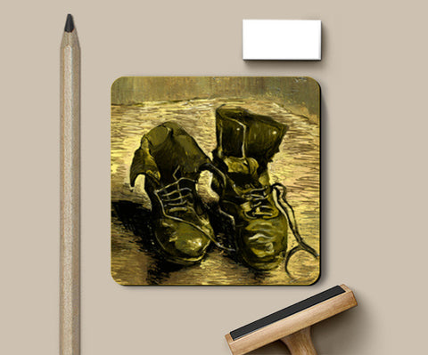 Van Gogh Shoes Coasters | Artist : Mohammed Chiba