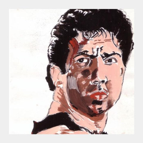PosterGully Specials, Sunny Deol was powerful as the angry young man in 'Ghayal' Square Art Prints | Artist : HeartAtArt, - PosterGully