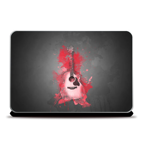 Guitar Splash – Red Laptop Skins | Artist : Darshan Gajara's Artwork