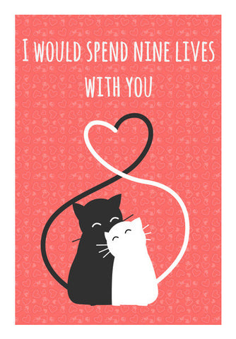 Valentine's Cats Art PosterGully Specials