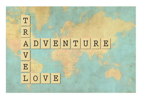 Travel Adventure Love Wall Art  | Artist : safira mumtaz