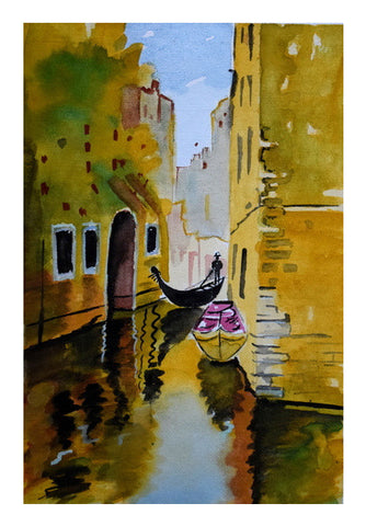 Rowing through the enchanted realms of Venice. Wall Art | Artist : Rahul Tanwar