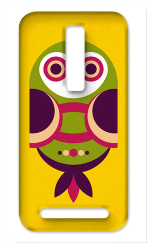 Unique geometric owl on yellow Asus Zenfone 2 Cases | Artist : Designerchennai