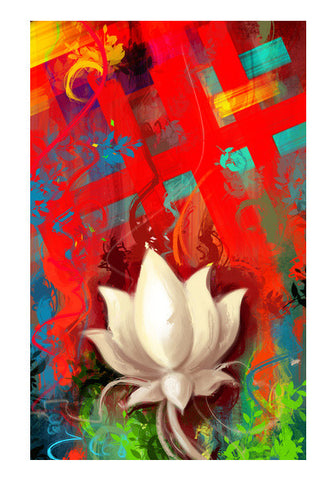Wall Art, lotus abstract Wall Art | Aniruddha Lele, - PosterGully