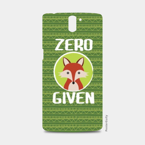 One Plus One Cases, Zero Fox Given One Plus One Cases | Artist : Random Chinese Friend, - PosterGully