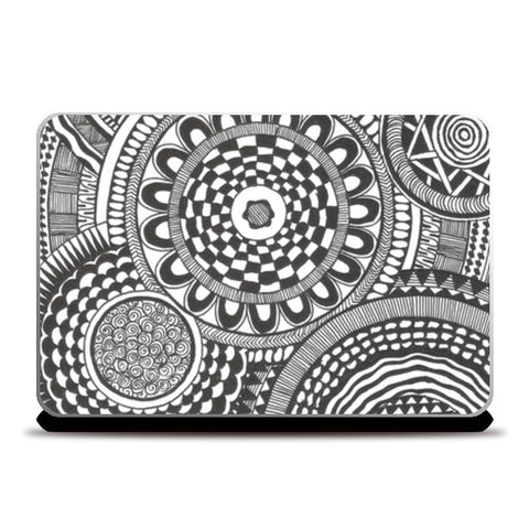 Prints in Circles Laptop Skins | Artist : Aniket Mitra