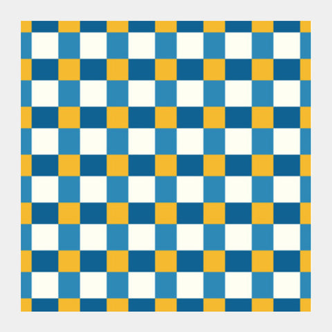 Yellow Square Pattern Square Art Prints PosterGully Specials