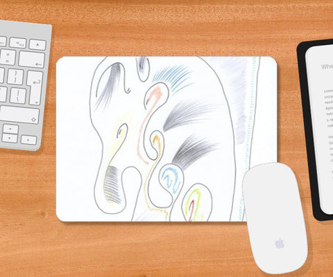 The Baby Elephant Mousepad | Artist : Dheeraj Abrol