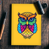 Colorful Owl Notebook | Artist : Inderpreet Singh