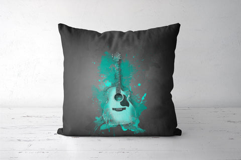 Guitar Splash – Aqua Cushion Covers | Artist : Darshan Gajara's Artwork