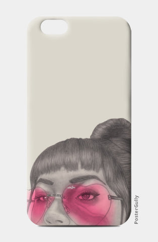 Betty With The Glasses iPhone 6/6S Cases | Artist : Anniez Artwork