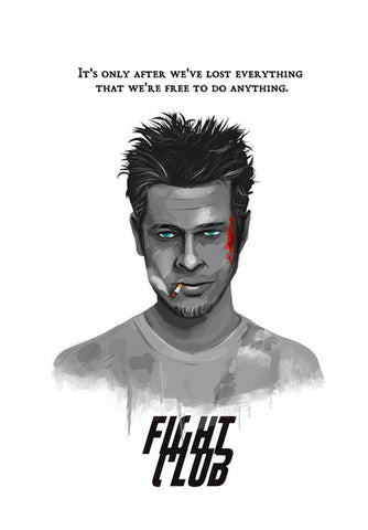 bradpitt-fight club Wall Art | Artist : abhijeet sinha