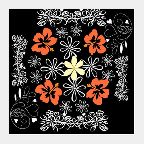 Flower Design Square Art Prints PosterGully Specials