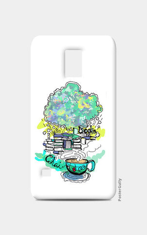 Samsung S5 Cases, Books and Chai Samsung S5 Cases | Artist : Poornima Kumar, - PosterGully