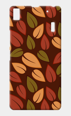 Seamless colored autumn leaves pattern Lenovo K3 Note Cases | Artist : Designerchennai