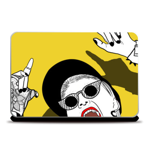 anti you Laptop Skins | Artist : DISHA BHANOT