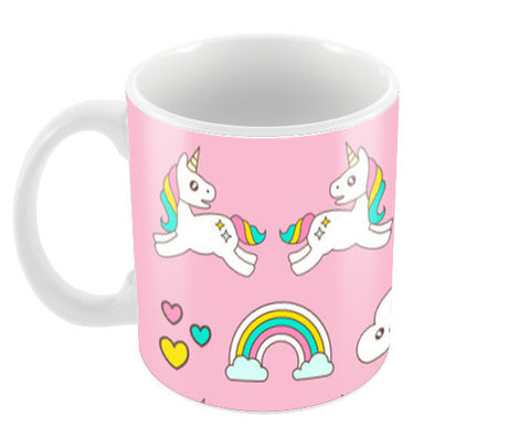 Unicorn Magical World Coffee Mugs | Artist : Colour me expressive