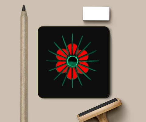 Coasters, Red Flower Coasters | Artist : CK GANDHI, - PosterGully