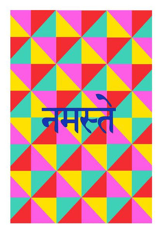 PosterGully Specials, NAMESTE Wall Art | Artist : DISHA BHANOT | PosterGully Specials, - PosterGully