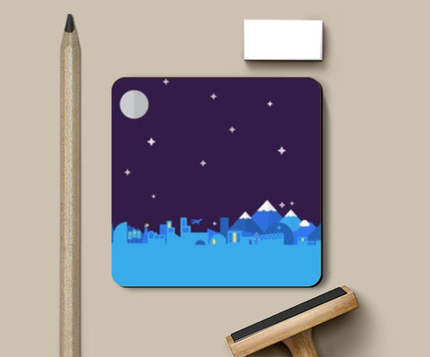 Coasters, Midnight City Coasters | Artist : Gyan Lakhwani, - PosterGully