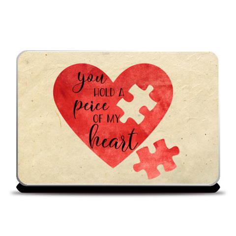 Peice of heart Laptop Skins | Artist : Not Just Doodle
