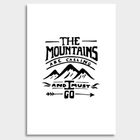 Mountains are calling Giant Poster | Artist : Shrishti Chouhan