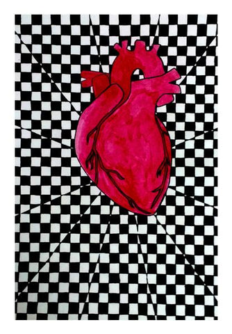 PosterGully Specials, Checker-ed Heart  Wall Art | Artist : Devi, - PosterGully